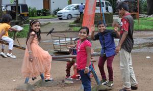 西遊記@印度克拉拉省高知堡 喜歡面對鏡頭的小朋友