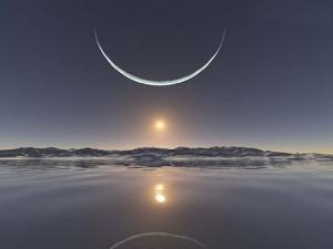 暗誨的月亮象徵精神困擾
